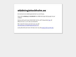 städningistockholm.se