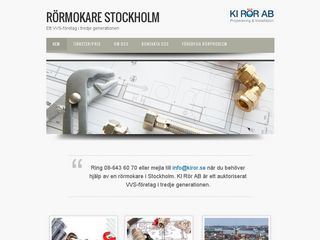 Earlier screenshot of stockholmsrörmokare.se