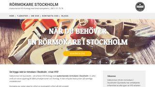 stockholmsrörmokare.se