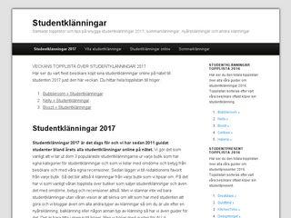 Earlier screenshot of studentklänningar.nu