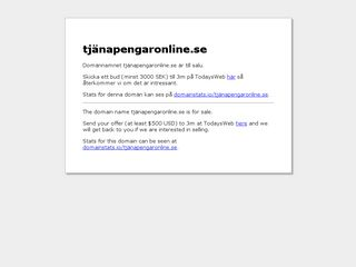 Earlier screenshot of tjänapengaronline.se
