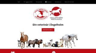 Earlier screenshot of veterinärängelholm.se