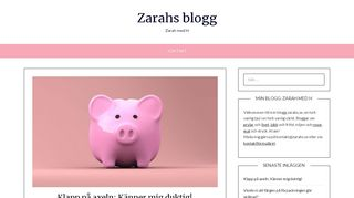 Earlier screenshot of zarahs.se