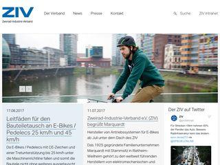 Earlier screenshot of ziv-zweirad.de