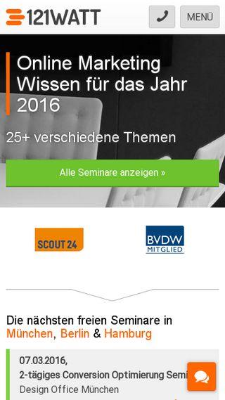 Mobile preview of 121watt.de