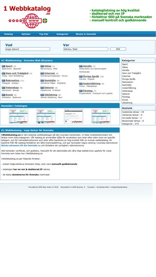 Mobile preview of 1webbkatalog.se