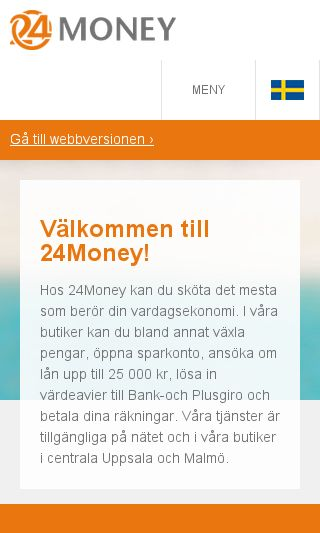 Mobile preview of 24pantbank.se