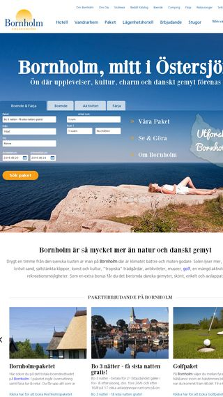 Mobile preview of 2bornholm.se