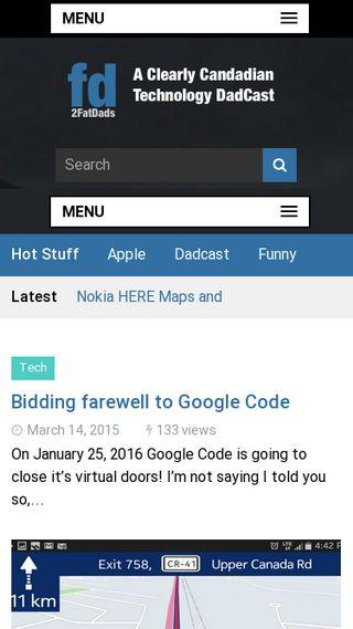 Mobile preview of 2fatdads.com