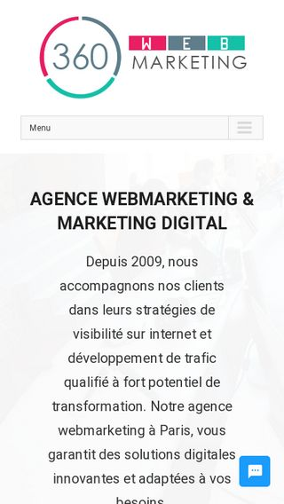 Mobile preview of 360-webmarketing.fr