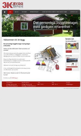 Mobile preview of 3kbygg.se