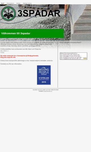 Mobile preview of 3spadar.se