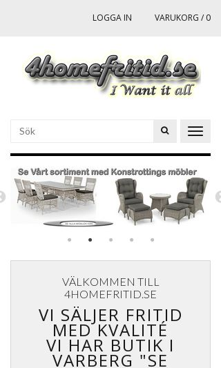 Mobile preview of 4homefritid.se