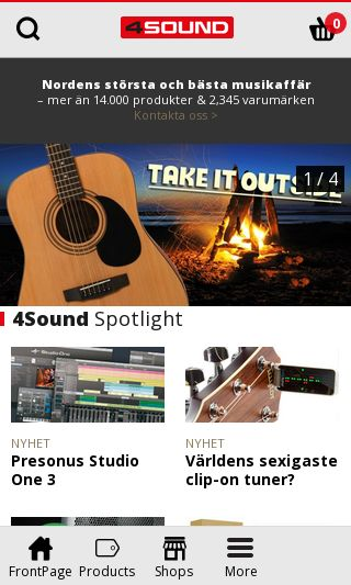 Mobile preview of 4sound.se