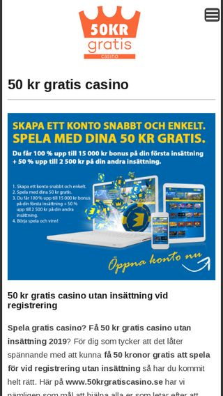 Mobile preview of 50krgratiscasino.se