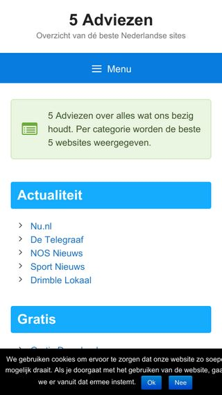 Mobile preview of 5adviezen.nl