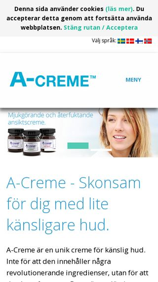 Mobile preview of a-creme.se