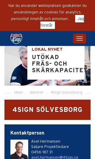 Mobile preview of a-skylt.se
