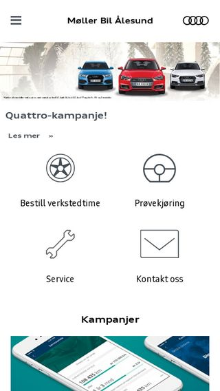 Mobile preview of aalesund.audi.no