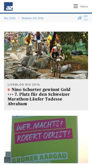 Mobile preview of aargauerzeitung.ch