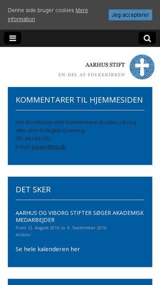 Mobile preview of aarhusstift.dk