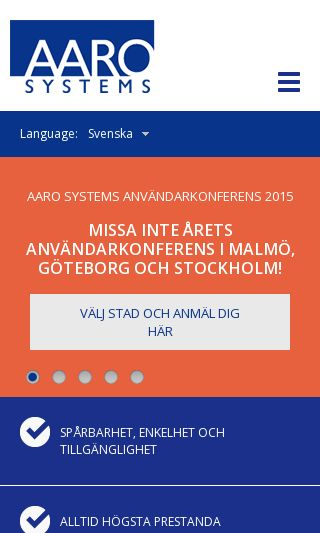 Mobile preview of aaro.se