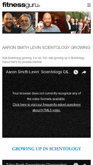 Mobile preview of aaronsmithlevin.fitnessguru.com