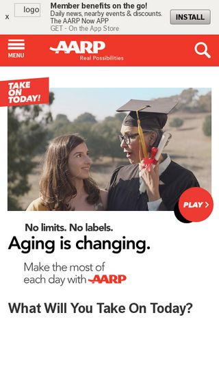 Mobile preview of aarp.org