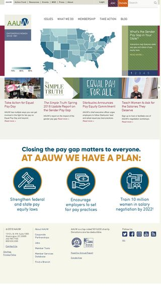 Mobile preview of aauw.org
