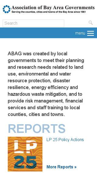 Mobile preview of abag.ca.gov