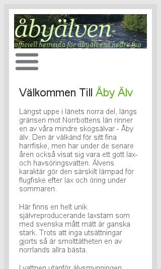 Mobile preview of abyalven.se