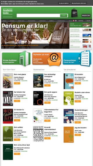 Mobile preview of academicbooks.dk