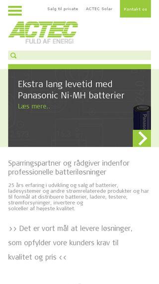 Mobile preview of actec.dk