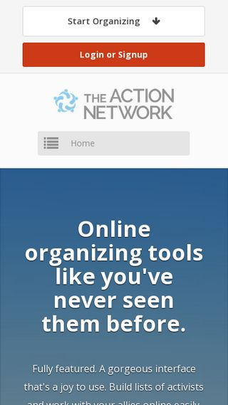 Mobile preview of actionnetwork.org
