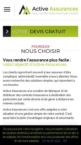 Mobile preview of activeassurances.fr