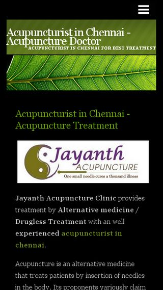 Mobile preview of acupuncturistinchennai.n.nu