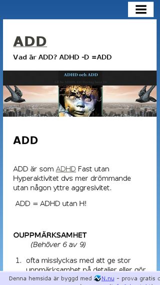 Mobile preview of add.n.nu