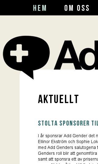 Mobile preview of addgender.se