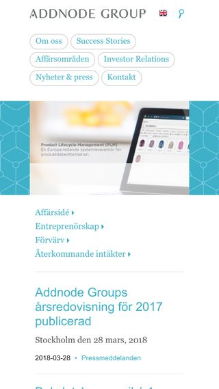 Mobile preview of addnodegroup.com
