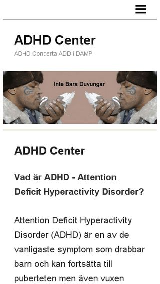 Mobile preview of adhdcenter.n.nu
