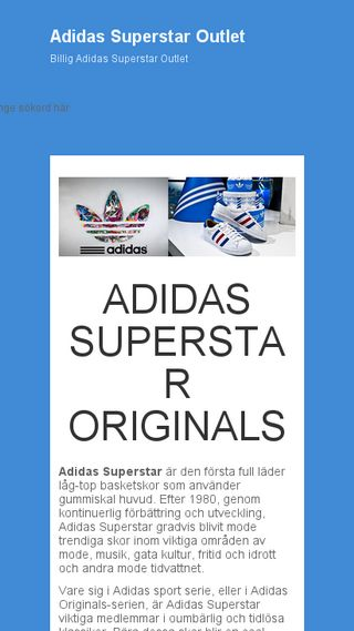 Mobile preview of adidassuperstardam.se