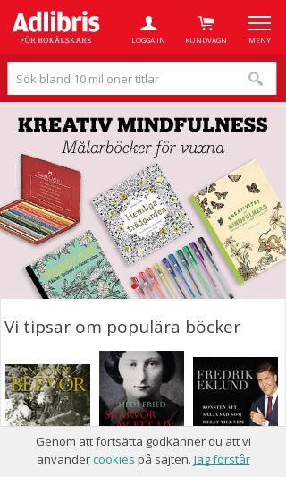 Mobile preview of adlibris.se