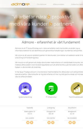 Mobile preview of admore.se