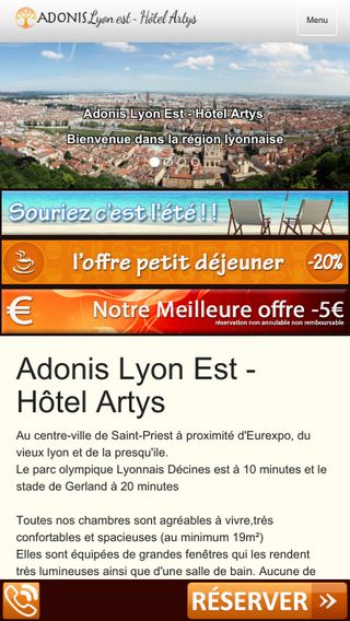 Mobile preview of adonis-lyon-est.com
