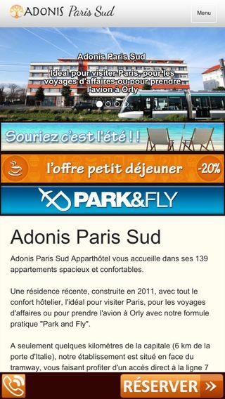 Mobile preview of adonis-paris-sud.com