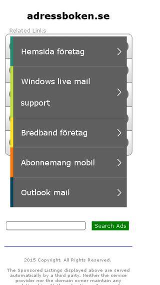 Mobile preview of adressboken.se