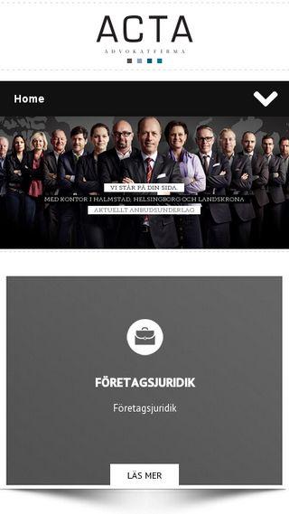 Mobile preview of advokatacta.se