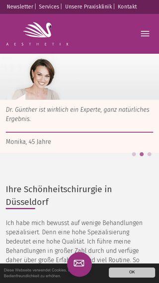 Mobile preview of aesthetix.de