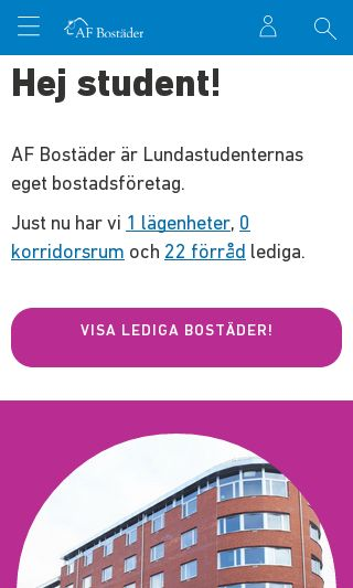 Mobile preview of studentlund.se
