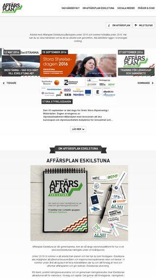 Mobile preview of affarsplaneskilstuna.se